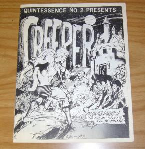 Quintessence #2 VF fanzine - the creeper - fredric wertham article - john pound