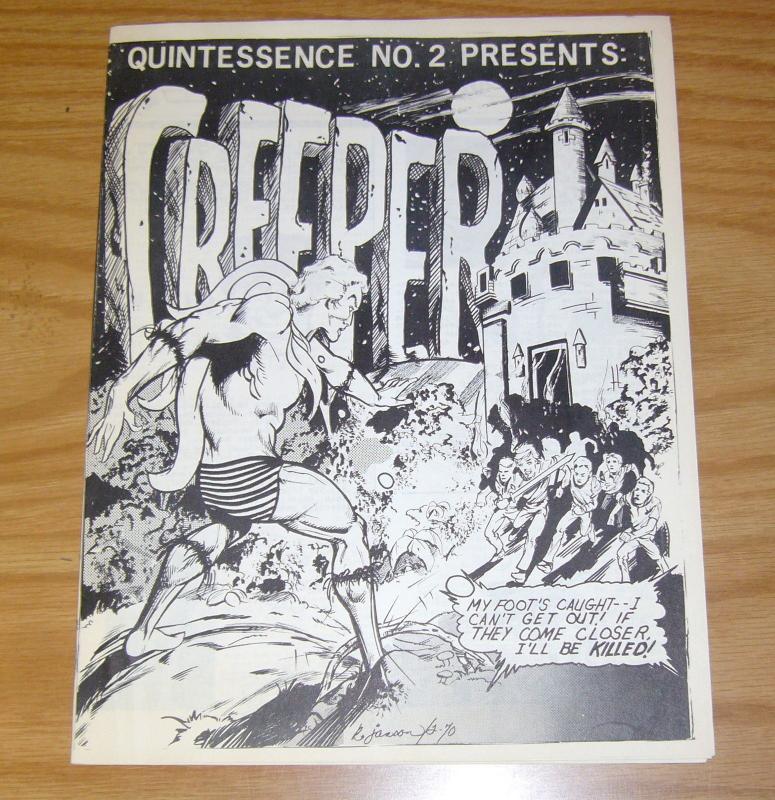 Quintessence #2 VF fanzine - the creeper - fredric wertham article - john pound