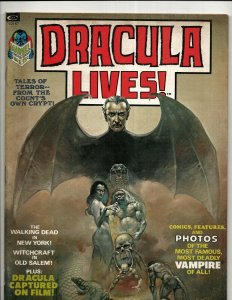 Lot Of 5 Dracula Lives Marvel Comic Book Magazines # 1 2 3 4 6 Vampire Fear RS3