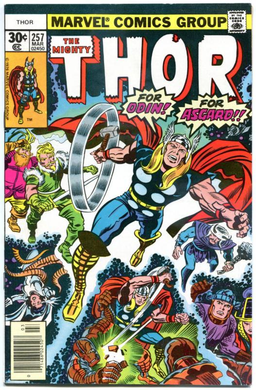 THOR #256 257, VF+, #258 NM, God of Thunder, Buscema, 1966, more Thor in store