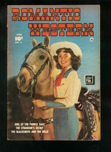 ROMANTIC WESTERN #3 1950-PHOTO COVER-FAWCETT COMICS-RARE-good/very good G/VG
