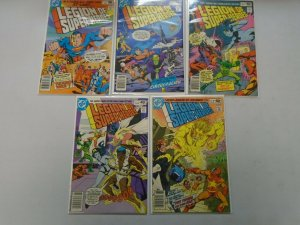 Legion of Super-Heroes lot 5 different #259-266 avg 5.0 VG FN (1980 2nd Series)