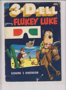 3-D-Ell #3 GD flukey luke - golden age dell comics 1953