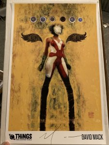 """KABUKI 11""""x17"""" PRINT BY DAVID MACK SIGNED THINGS FROM ANOTHER WORLD EXCLUSIVE"""