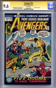 AVENGERS #101 CGC 9.6 SS HARLAN ELLISON (lone top census signature series)
