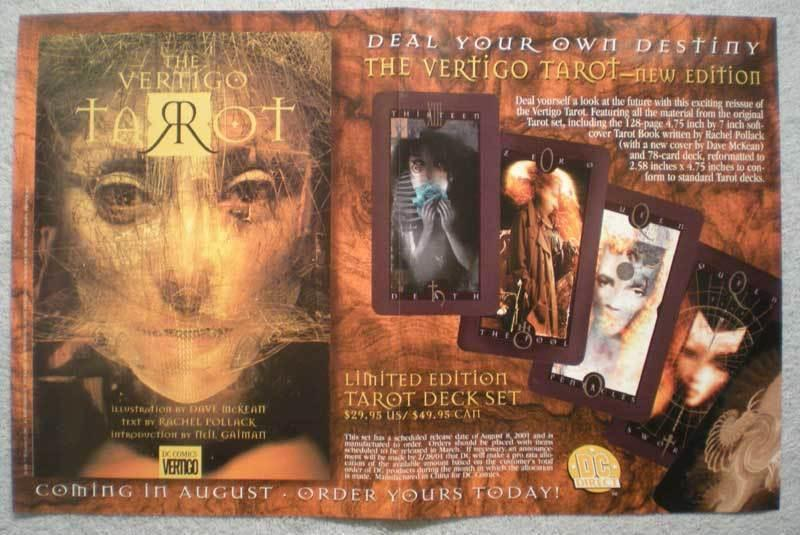 VERTIGO TAROT Promo Poster, 17 x 11, 2001, Unused, more in our store