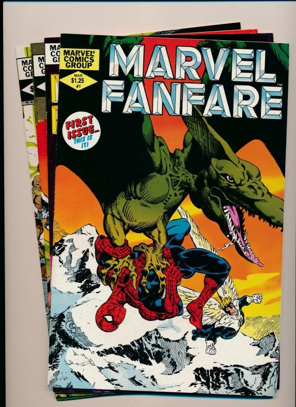 MARVEL (4 comics) MARVEL FANFARE Vol. 1 #1- #4 1982 VF/NM (PF376)