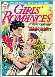 Girls Romances #30 1955-DC-spicy stories-Mask cover-costume party-FN-