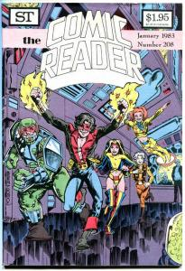 COMIC READER #208, VF+, Will Meugniot, DNAgents, Fanzine,1983, more in store