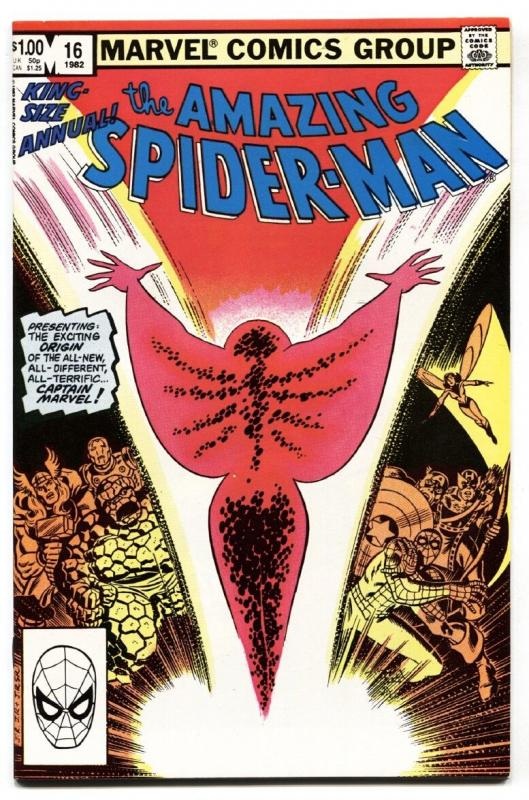 AMAZING SPIDER-MAN ANNUAL #16 1st Captain Marvel (Monica Rambeau) nm-