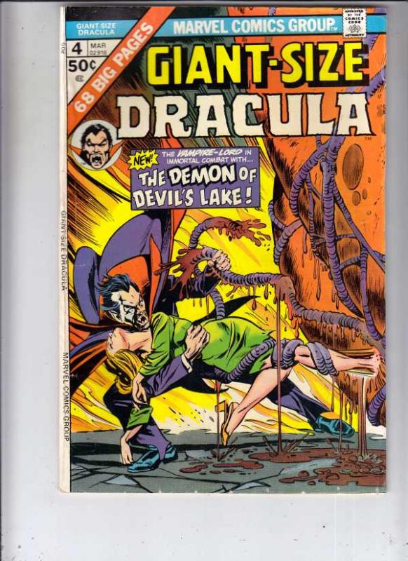 Giant-Size Dracula #4 (Mar-75) FN/VF High-Grade Dracula