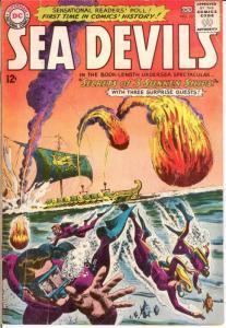 SEA DEVILS 13 G+ KUBERT,COLAN Oct. 1963 COMICS BOOK
