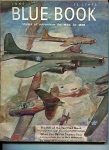 BLUE BOOK PULP-JUNE 1943-FN-STOOPS COVER-BEDFORD-JONES-NELSON BOND-KEYNE FN