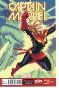 Captain Marvel 15 (2014 series) 9.0 (our highest grade) Last Issue Low Print Run