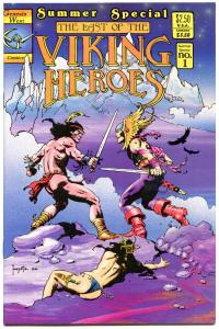 Last of the VIKING HEROES Summer Special #1, NM, Frank Frazetta, Thibodeaux,1988