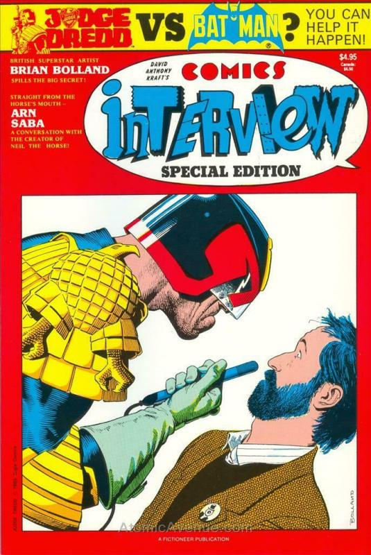 Comics Interview #19A VF/NM; Fictioneer | save on shipping - details inside