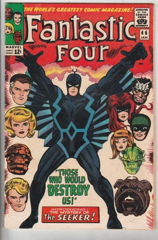 Fantastic Four #46 (Jan-66) FN- Mid-Grade Fantastic Four, Mr. Fantastic (Reed...