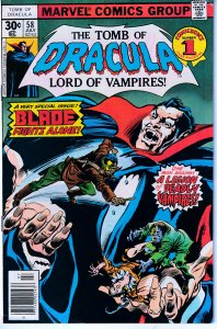 Tomb of Dracula(vol. 1) # 58 Blade The Vampire Hunter