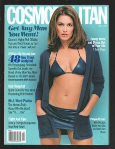 Cosmopolitan 4/1998-Hearst-Cindy Crawford cover-Get Any Man You Want-48 Guy T...