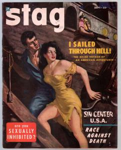 Stag #4 9/1950-Atlas-GGA cover-exploitation-cheesecake-zombies-VF-