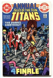 Tales Of The Teen Titans Annual #3 1984 -  Judas Contract comic book NM-