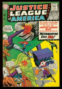 JUSTICE LEAGUE OF AMERICA #42 1966 DC METAMORPHO BATMAN FN-