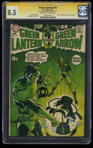Green Lantern #76 CGC VF+ 8.5 SS Signed and Sketched by Neal Adams!