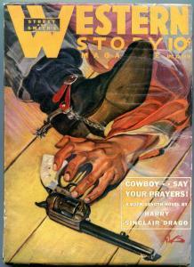 Western Story Pulp April 22 1939- HW Scott- Harry Sinclair Drago