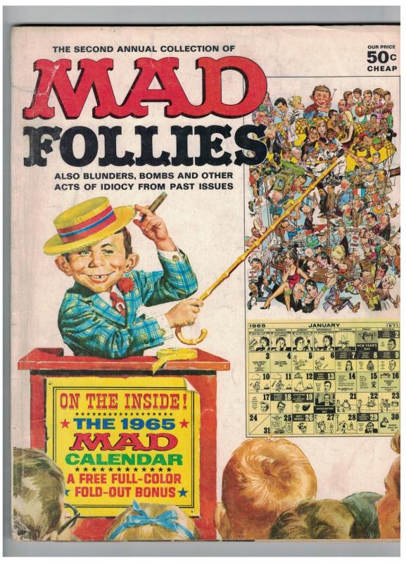 MAD FOLLIES (1965) 2 G-VG CALENDAR 1965
