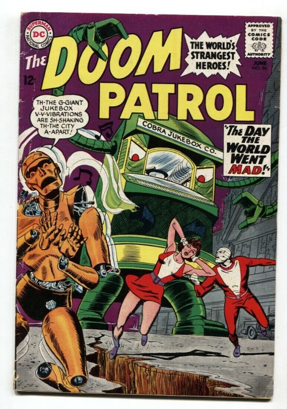 Doom Patrol 96 Comic Book Dc Silver Age Robot Cover Hipcomic