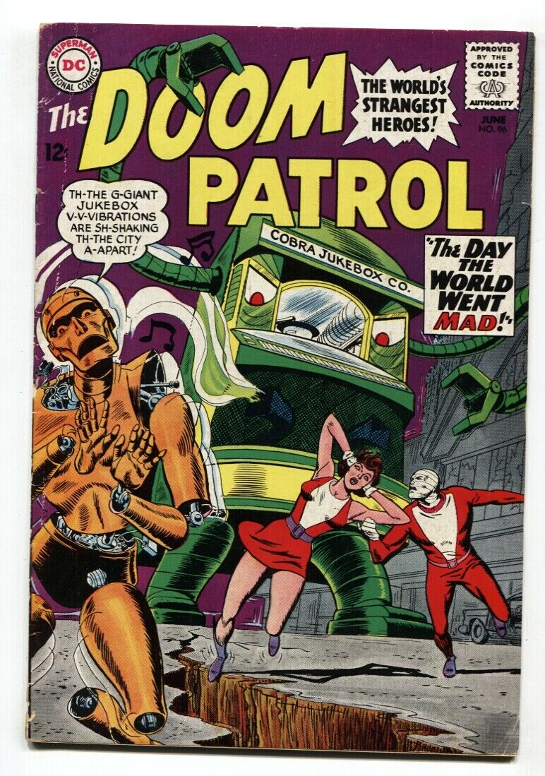 Doom Patrol 96 Comic Book Dc Silver Age Robot Cover Hipcomic