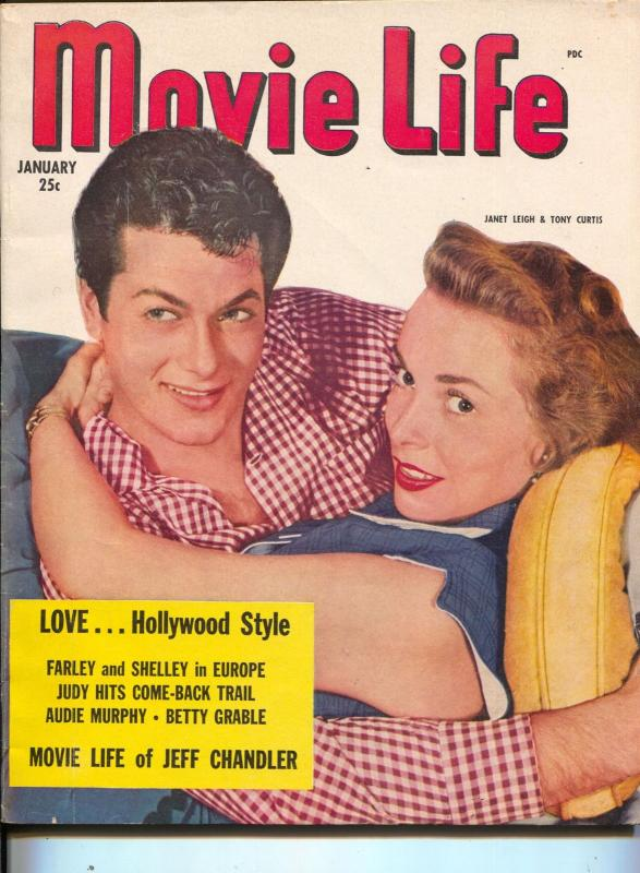 Movie Life-Janet Leigh-Tony Curtis-Judy Garland-Betty Grable-Jan-1952