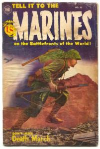 Tell it to the Marines #10 1954- Golden Age War comic F/G