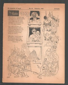 Realist #64 2/1966-Paul Krassner Counter culture mag-Underground comix type-VG-
