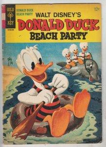 Donald Duck Beach Party #1 (Sep-65) FN- Mid-Grade Donald Duck