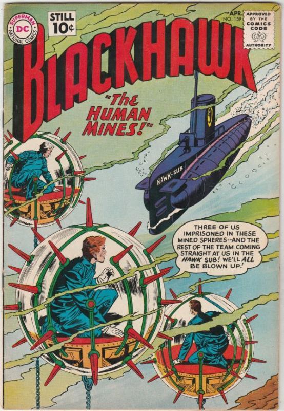 Blackhawk #159 (Apr-61) VF+ High-Grade Black Hawk, Chop Chop, Olaf, Pierre,Ch...