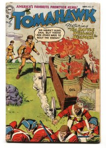 Tomahawk #27 1954-DC-Red Coats attacked by burning oil-pre-code cover-G