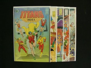 The Official Teen Titans Index #1-5 Complete Set Run ICG Comics VF to NM