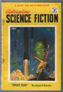 Astounding Science Fiction British Edition 7/1952-sci-fi pulp fiction-G/VG