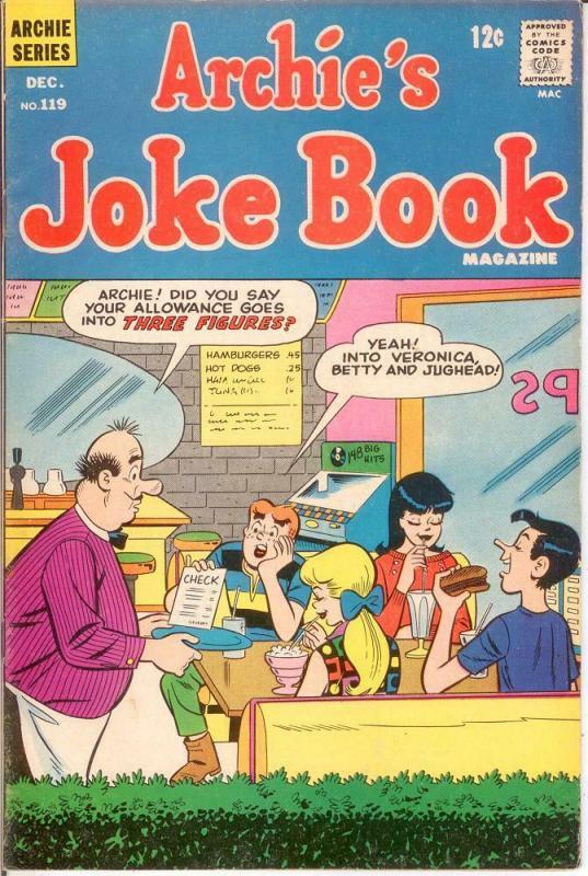 ARCHIES JOKE BOOK (1954-1982)119 VG-F Dec. 1967 COMICS BOOK