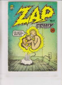 Zap Comix #0 VG (2nd) print apex ROBERT CRUMB underground comix
