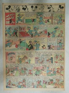 Mickey Mouse Sunday Page by Walt Disney from 5/27/1945 Tabloid Page Size