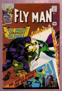 FLY MAN #36 1966-FLYGIRL-ORIGIN: WEB--SHIELD vs HANGMAN VF