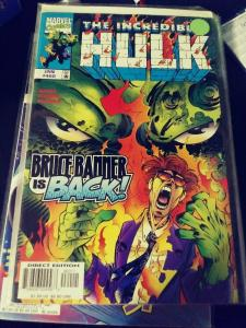 Incredible Hulk  # 460  JAN 1998, Marvel  BANNER IS BACK