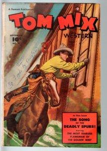 TOM MIX COMICS #9-1948-B WESTERN MOVIE-SEDUCTION OF THE INNOCENT-FAWCETT-RA VG-