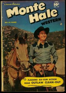 MONTE HALE WESTERN #47 1950 B-WESTERN MOVIE COMIC BOOK VG