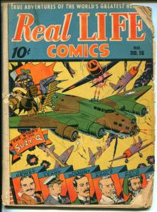 Real Life #16 1944-Nedor-WWII-Alex Schomburg-air war-North Pole-Perry-Dewey-FR
