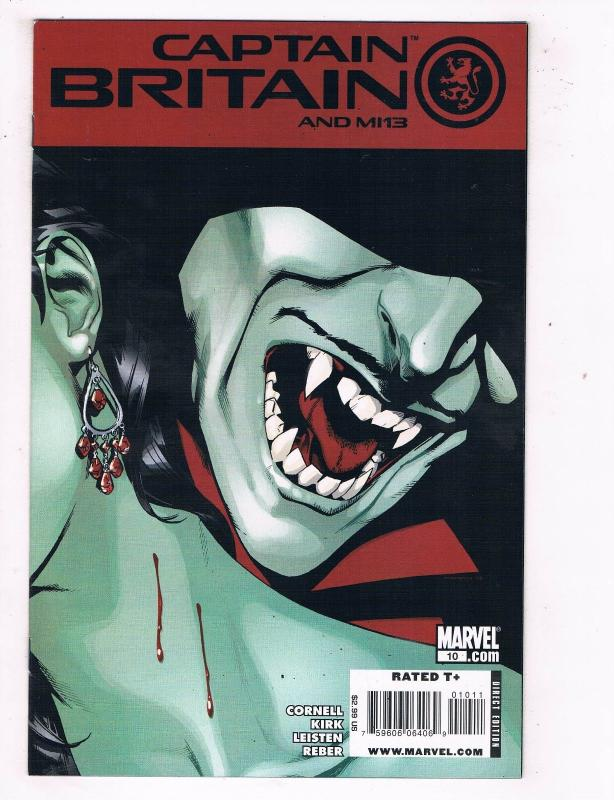 Captian Britain & MI13 #10 VF/NM Marvel Comics Comic Book Cornell DE46