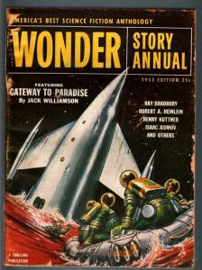 WONDER STORY ANNUAL 1953-SCI-FI-RETRO ROCKET CVR VG