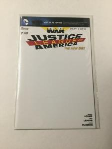 Justice League Of America Trinity War 7 Nm Near Mint Blank Variant DC Comics